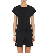 dress,isabel marant,black dress,wrap dress,barneys