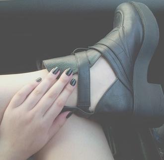 shoes black heels black leather boots black shoes
