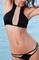 Mesh insert surfer style bikini by féroce