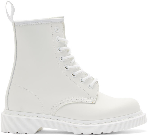 Dr. Martens boots leather white shoes