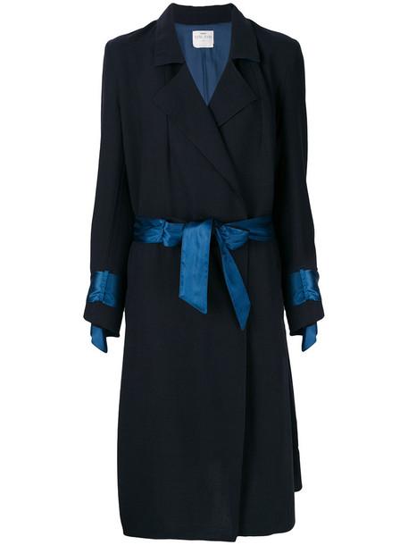 Forte Forte coat women embellished blue wool