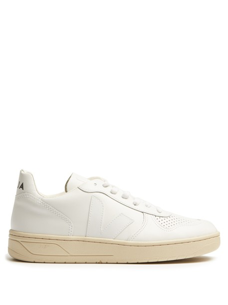 Veja top leather white