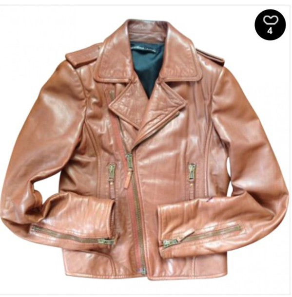 jacket balenciaga leather jackett 20100 caramel