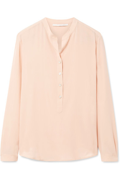 Stella McCartney blouse rose silk top