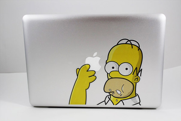 the simpsons technology desk computer sticker computer accessory
