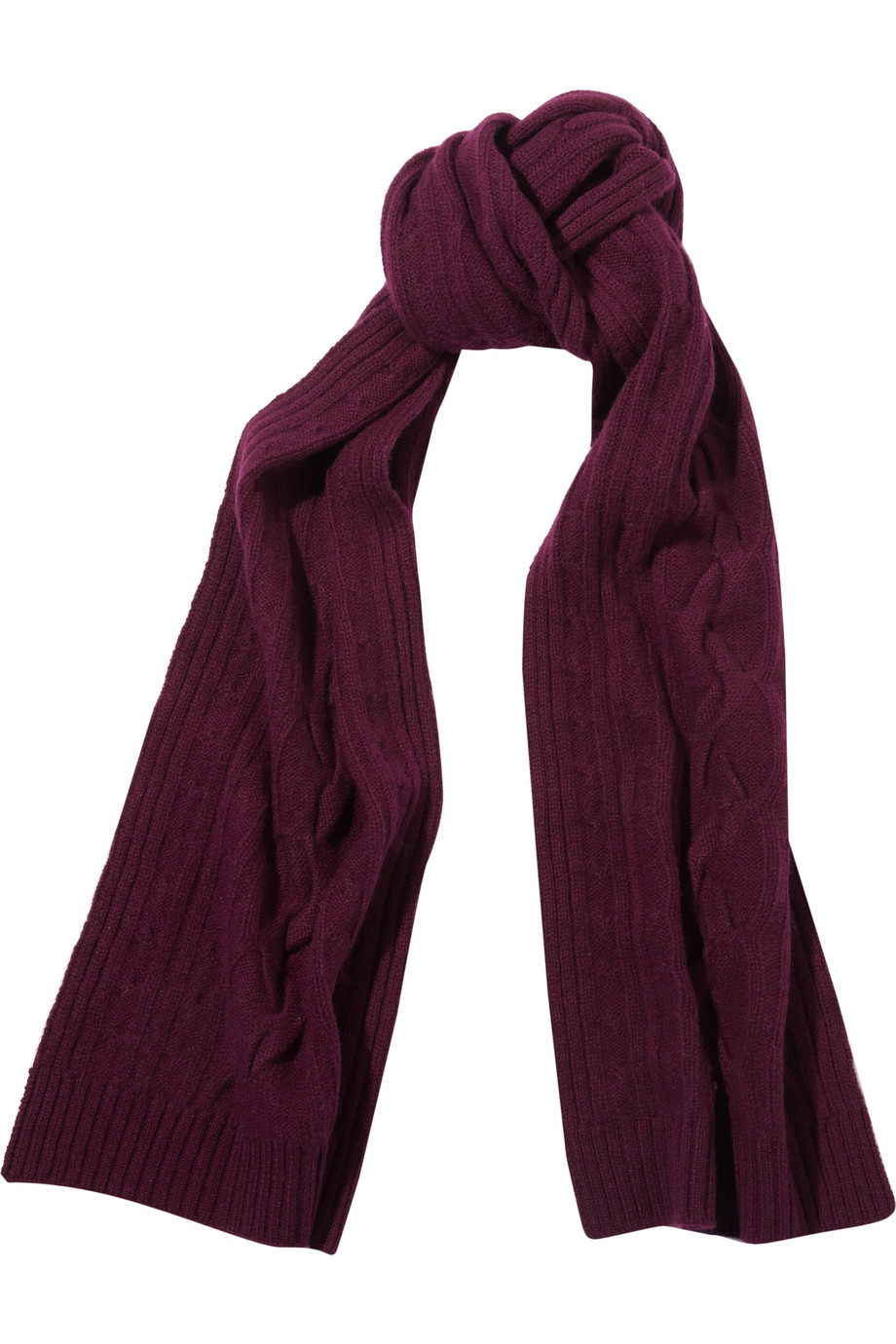 Knitting Pattern For Mens Cashmere Scarf : N.Peal Cashmere Cable-knit cashmere scarf - 50% Off Now at THE OUTNET
