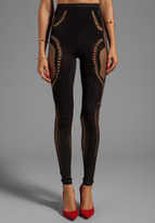 McQ - Mesh Legging (Black) - Apparel - ShopStyle