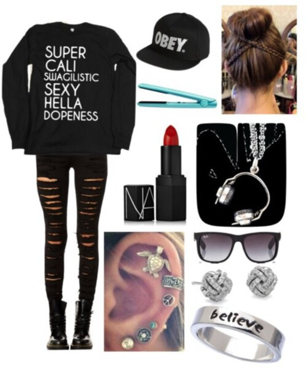 sweater jeans shoes sunglasses