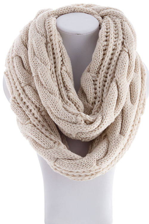 Cable Knit Scarves Patterns : Cable Knit Infinity Scarf   Betsy Boos Boutique