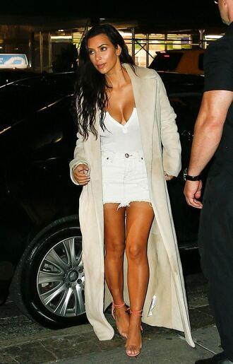 skirt mini skirt sandals kim kardashian kardashians top coat summer outfits summer top