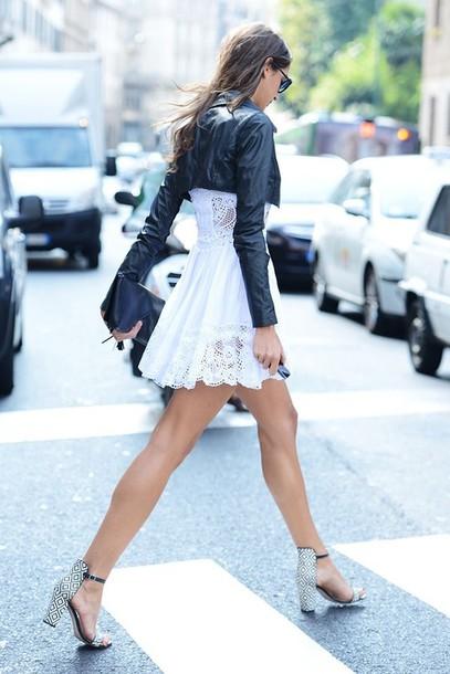 dress white lace clothes