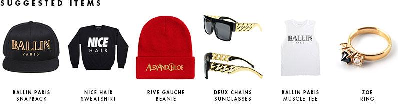 ALEX AND CHLOE / BALLIN IN PARIS - MUSCLE TEE - WHITE W/BLACK : ALEX & CHLOE
