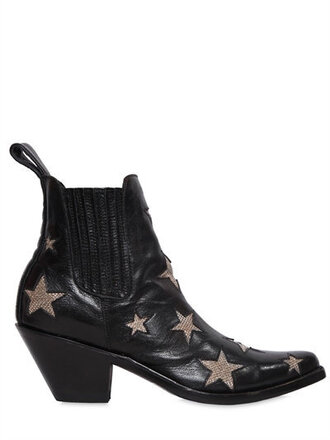 shoes stars ankle boots