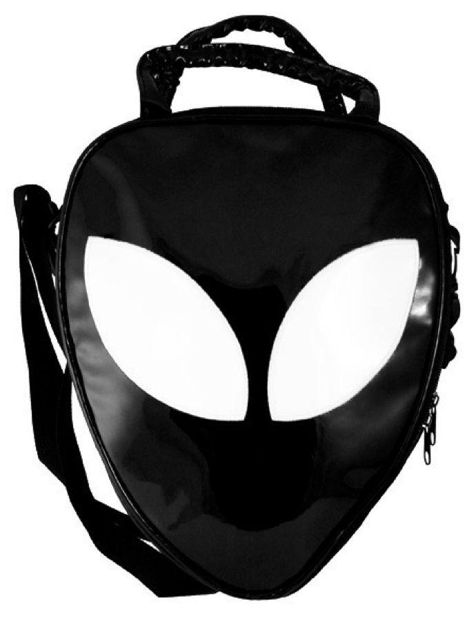 Killstar alien handbag neon black bag clutch backpack goth punk