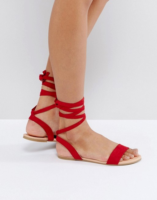 be56c78dbba0f ASOS FIONA Tie Leg Sandals at asos.com