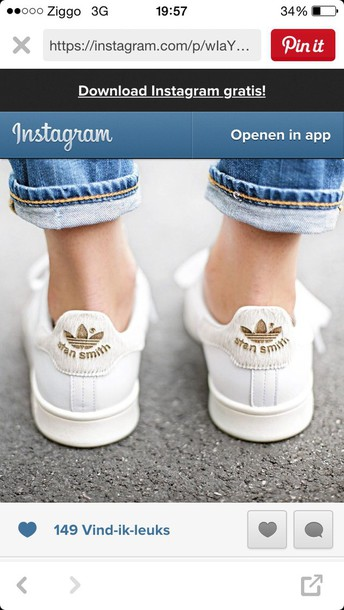 shoes white gold stan smith