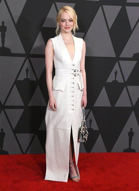 dress white white dress emma stone