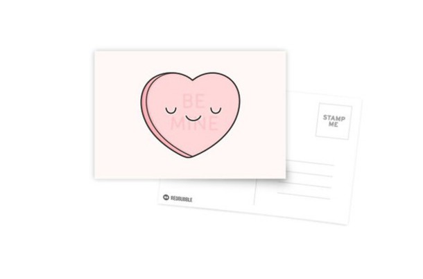 home accessory card heart pastel pink pink stationary valentines day love baby pink light pink