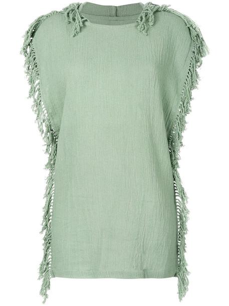 Caravana dress knitted dress women cotton green