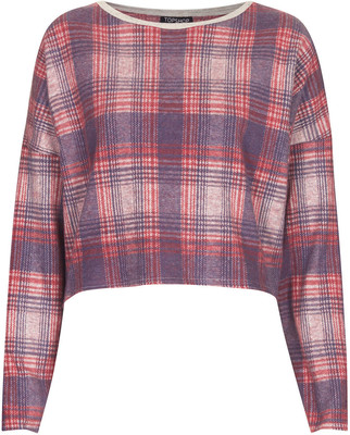Topshop laundry check sweat