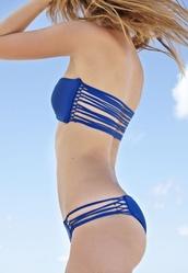 swimwear,bikini,blue bikini,straps,summer,navy blue bikini