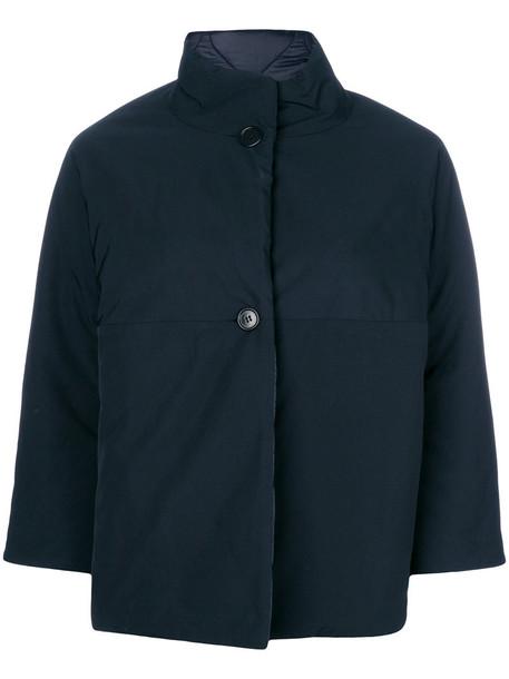 jacket cropped women cotton blue