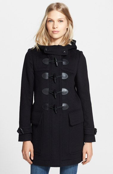 burberry brit 39 finsdale 39 wool duffle coat nordstrom. Black Bedroom Furniture Sets. Home Design Ideas