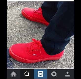 shoes vans red sneakers skaters cool manila