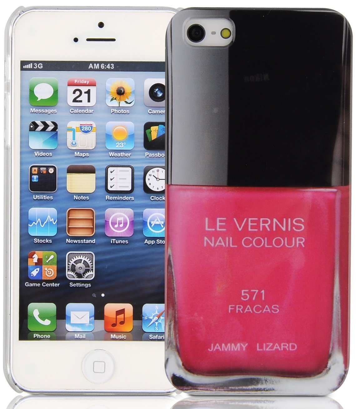 com: iPhone 5 Case - Pink Nail Polish Back Cover for iPhone 5 5s ...