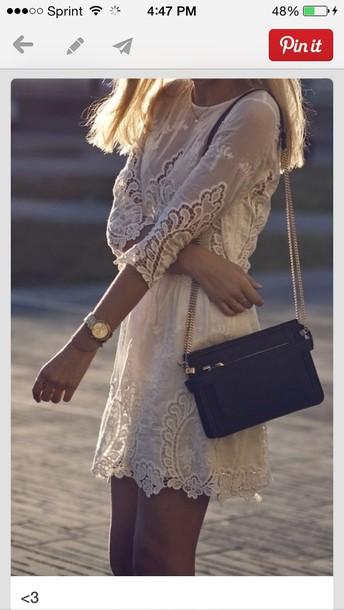 dress lace white