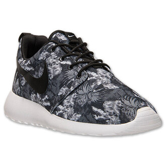 shoes nike nike shoes nike roshe run swag floral pattern shoes just do it