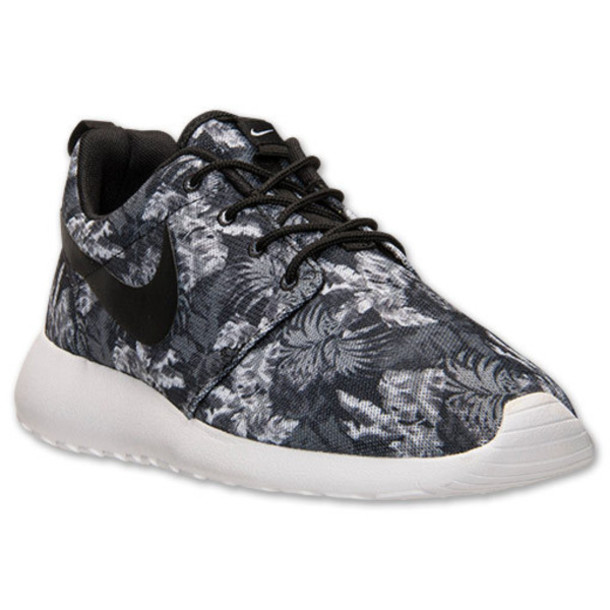 2982b0bc9b2d shoes nike nike shoes nike roshe run swag floral pattern shoes just do it