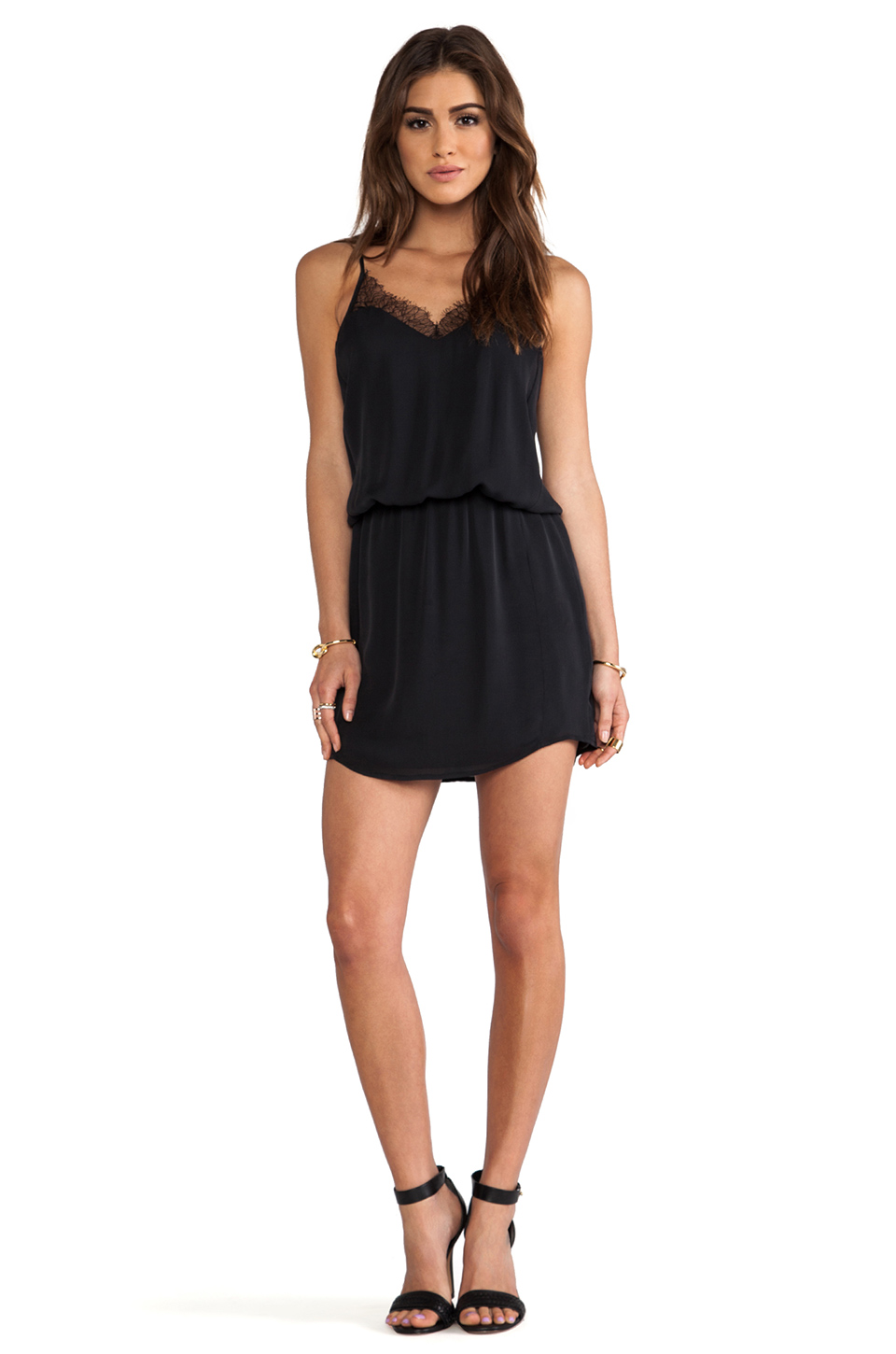 Mason by Michelle Mason Lace Cami Dress in Black from REVOLVEclothing.com