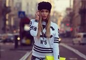 sweater,chanel inspired,white sweater,shirt,baseball shirt,black and white,bag,sweatshirt,chanel,black,letters,sporty shirt,blonde hair,n5,crazy pattern,stripes,neon yellow bag,urban,pants,leggings,clothes,girly,coco channel no5 shirt,white,chanel sweater