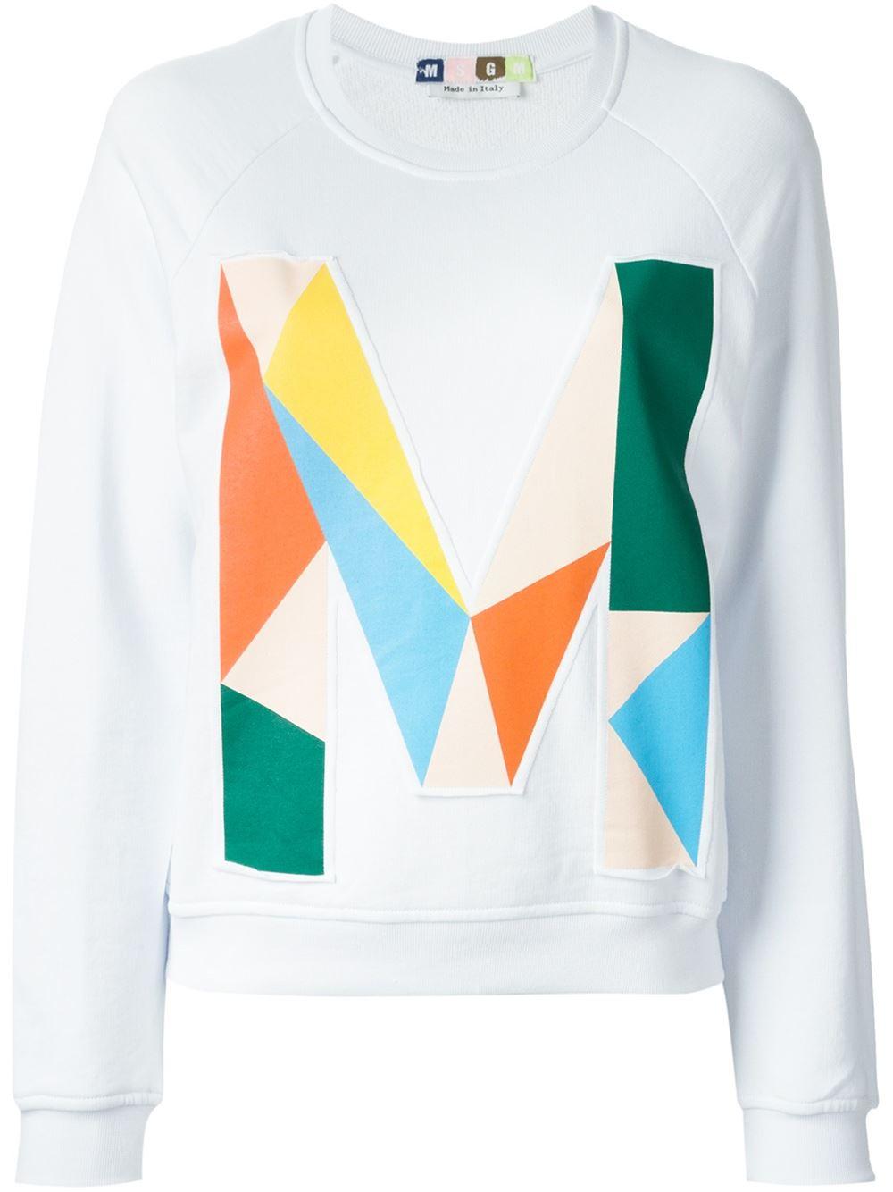 Msgm m print sweatshirt