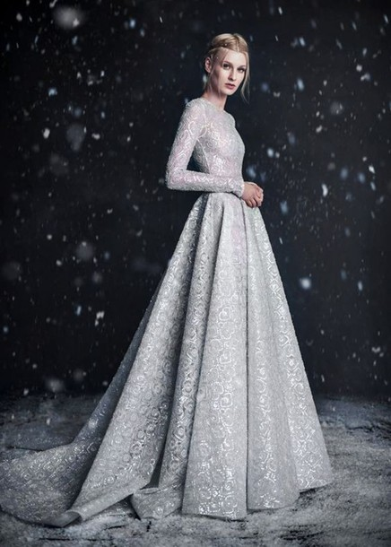 Dress: ball gown dress, gown, prom dress, long sleeves, long dress ...