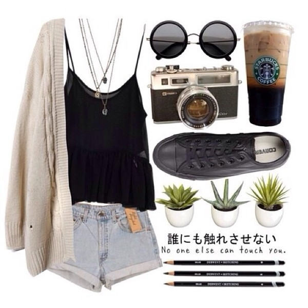 sweater cream white black green cream sweater b&w little black dress simple dress nature natural colours natural cute casual sunglasses shoes sandals crop tops jewelry accessories shirt shorts jewels