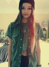 jacket,vest,army green,button down,pockets,hipster,tumblr,shirt