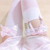 belt,dejavu cat,garter,garter belt,garter leggings,stockings,handmade garter,white garter,sexy,lace,pink,kawaii,fairy kei,studded garter,lace garter,handmade,lolita,pastel,pastel fashion,punk,rock,goth,pastel grunge,pastel goth,47301,cute pastel goth