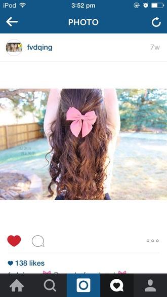 hair accessory pink bows bowsbeforebros girly