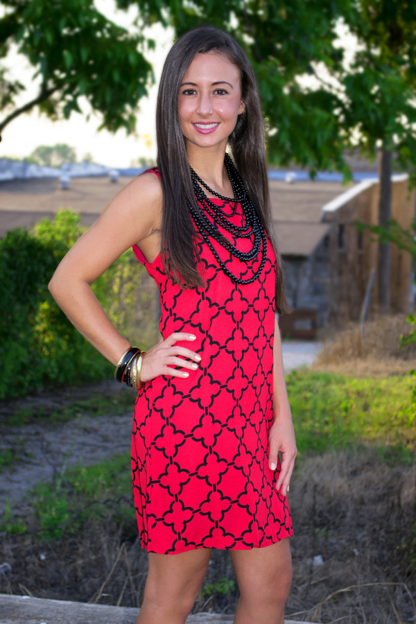red black design razorback arkansas game day dress