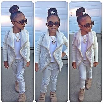 cardigan girl girly jacket fashion kids fashion toddler panda sunglasses little diva