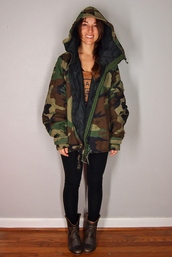 jacket,vintage,grunge,grunge glam,camouflage,army green jacket,m65,woodland,hipster,streetstyle,fall outfits,winter coat,fall jacket,90s style,80s style,military style,military boots,army jacket coat military fur,36683