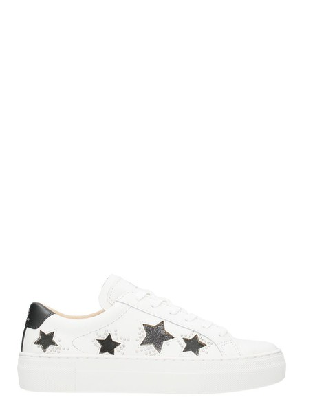 M.O.A. sneakers leather white stars shoes