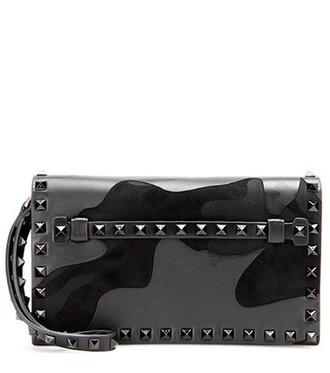 leather clutch clutch leather black bag