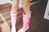 shoes,pink,hunter boots,wellies