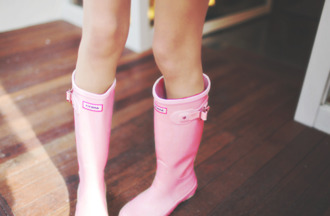 shoes pink hunter boots wellies