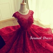 dress,red prom dress,red dress,omg i need this,prom dress,prom,short dress,red,lace,lace dress,midi,flowy,floral,formal,asian,store,red lace dress,homecoming dress,party dress,cocktail dress,red homecoming dress short l lace