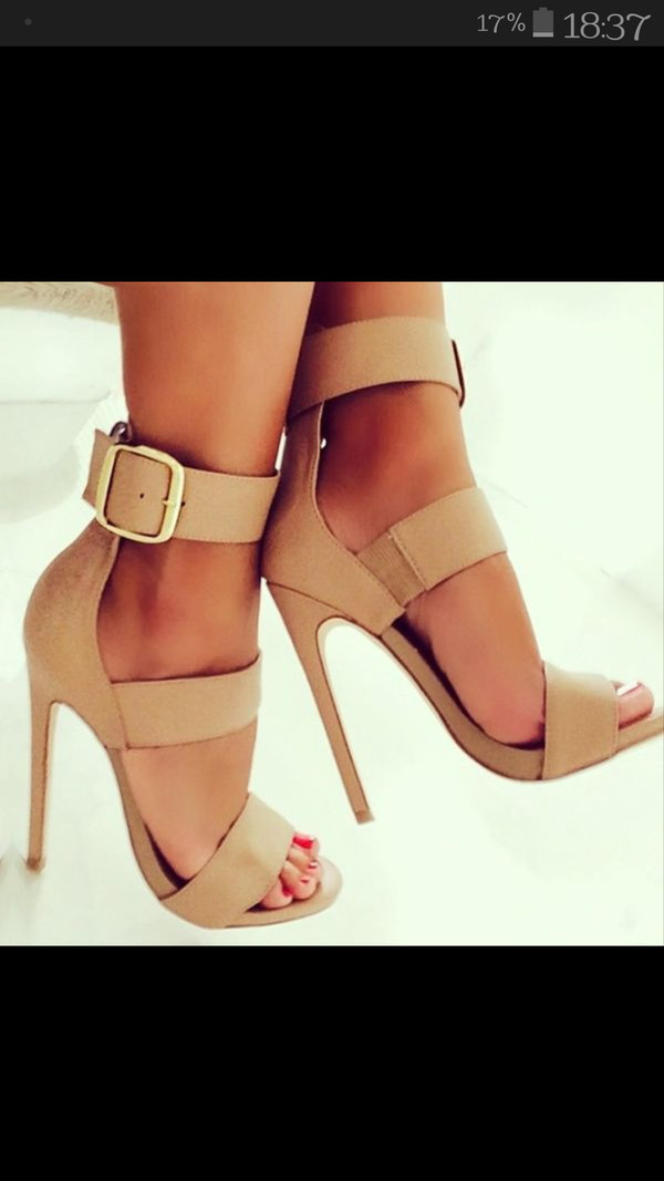 heels strapped heels fashion shoes sandals nude heels