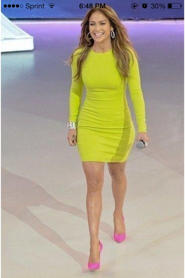 dress lime green dress